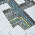 Стоимость прокладки кабелей над подвесным потолком
