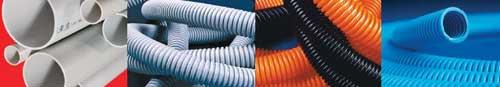 Гибкие и жесткие пластиковые трубы из ПВХ, ПНД, полипропилена