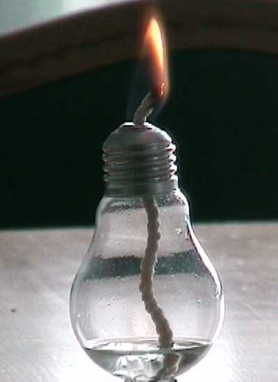 Сувенир из лампы накаливания (свеча)