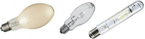 Внешний вид  металлогалогенных ламп