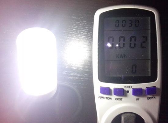 Электропотребление СДЛ лампы