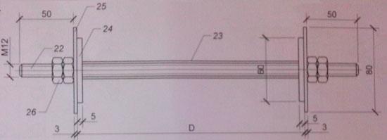 Стеновой проходной элемент