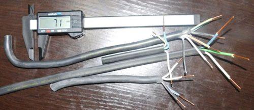 Образцы кабелей