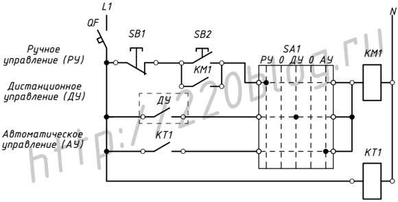 Универсальная (типовая) схема управления наружным освещением