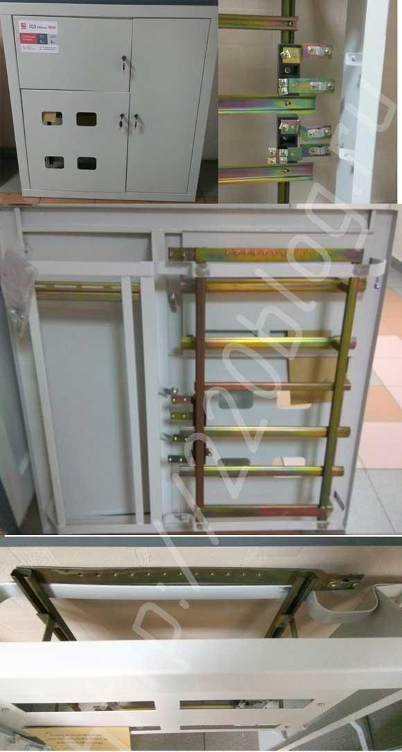 Щит этажный с пластинами на изоляторах для подключения