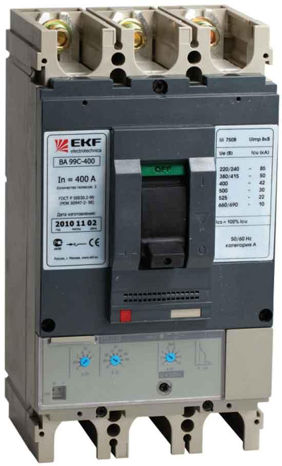 Автоматический выключатель с регулируемыми расцепителями серии ВА-99С