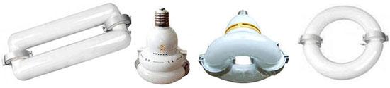 Внешний вид индукционных ламп