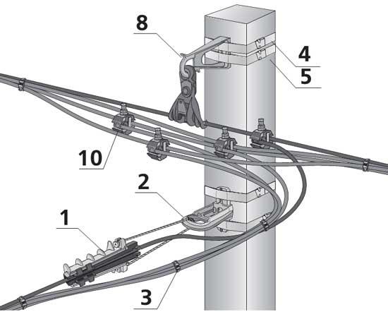 Промежуточная арматура и арматура для основного ответвления СИП