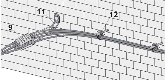 Арматура для прокладки СИП по фасадам зданий