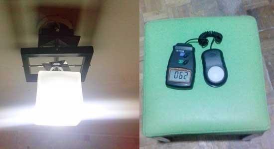 Измерение освещенности