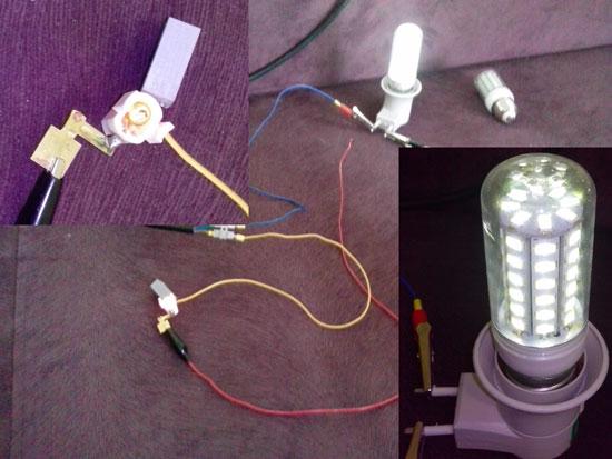 СДЛ лампа горит (мерцает)