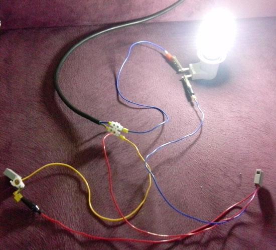 СДЛ лампа при включеном выключателе