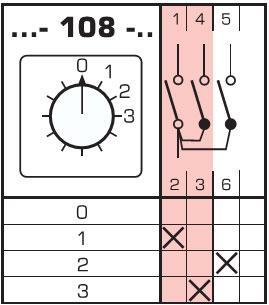Схема ручного переключателя фаз 4G63-108