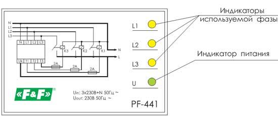 Автоматический переключатель фаз PF-441