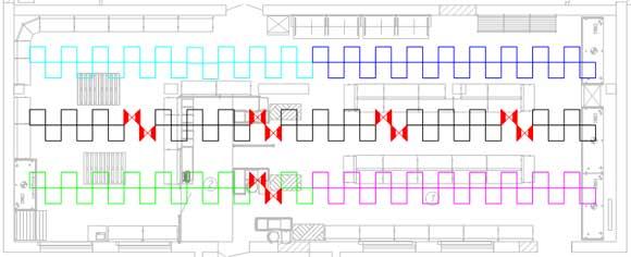 Расположение светильников в подвесном потолке