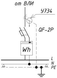 Схема подключения PEN-проводника при однофазном вводе