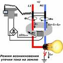 Расчет тока утечки в разветвленной цепи