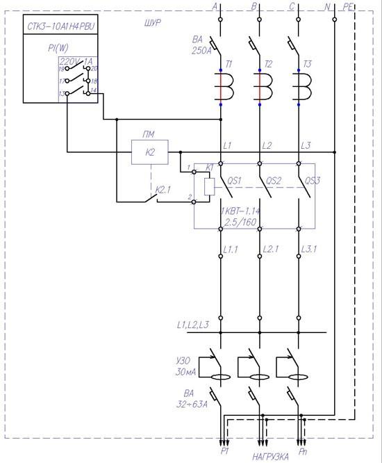 Схема управлением нагрузкой