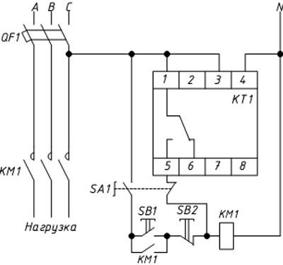 Схема ШНО с использованием PCZ-525