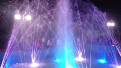 Освещение фонтана