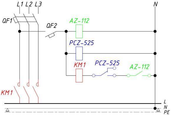 Схема управления наружным освещением 2